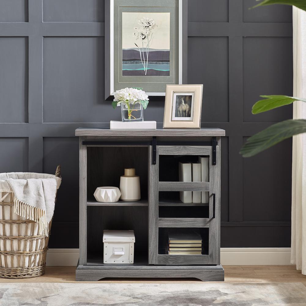 Walker Edison Furniture Company 32 in. Slate Grey Sliding ...