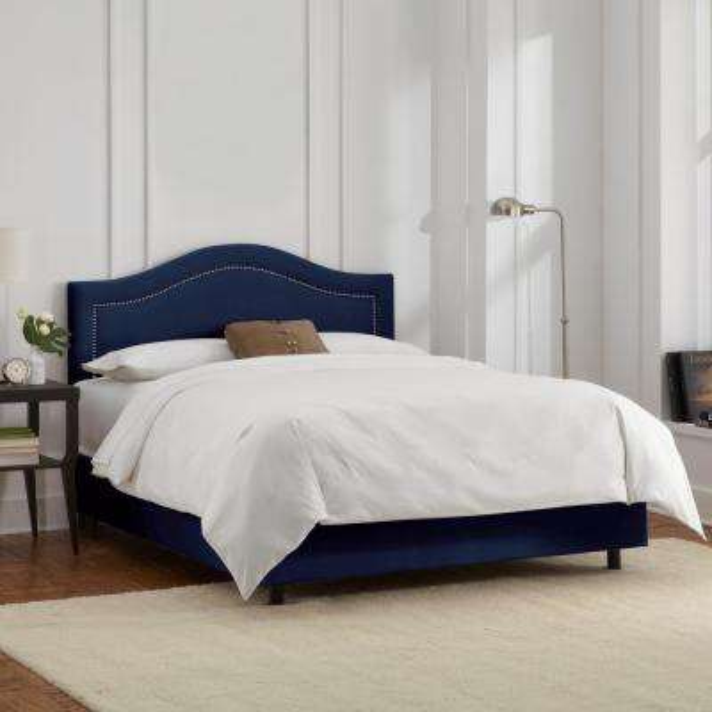 Full Blue Panel Headboard Beds Headboards Bedroom