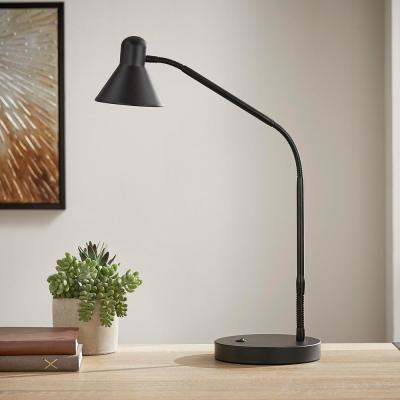 15.5 in. Black Indoor LED Desk Lamp