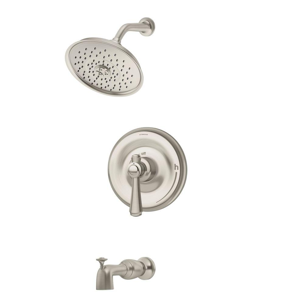 Degas 1-Handle Tub and Shower Faucet in Satin Nickel (Valve Included)