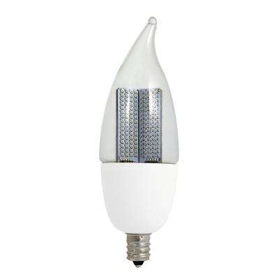 10W Equivalent Warm White CA9.5 Non-Dimmable Clear LED Animated Flame Light Bulb