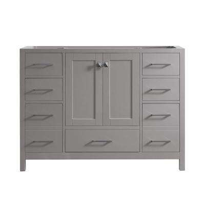 Caroline Madison 48 in. W Bath Vanity Cabinet Only in Cashmere Gray