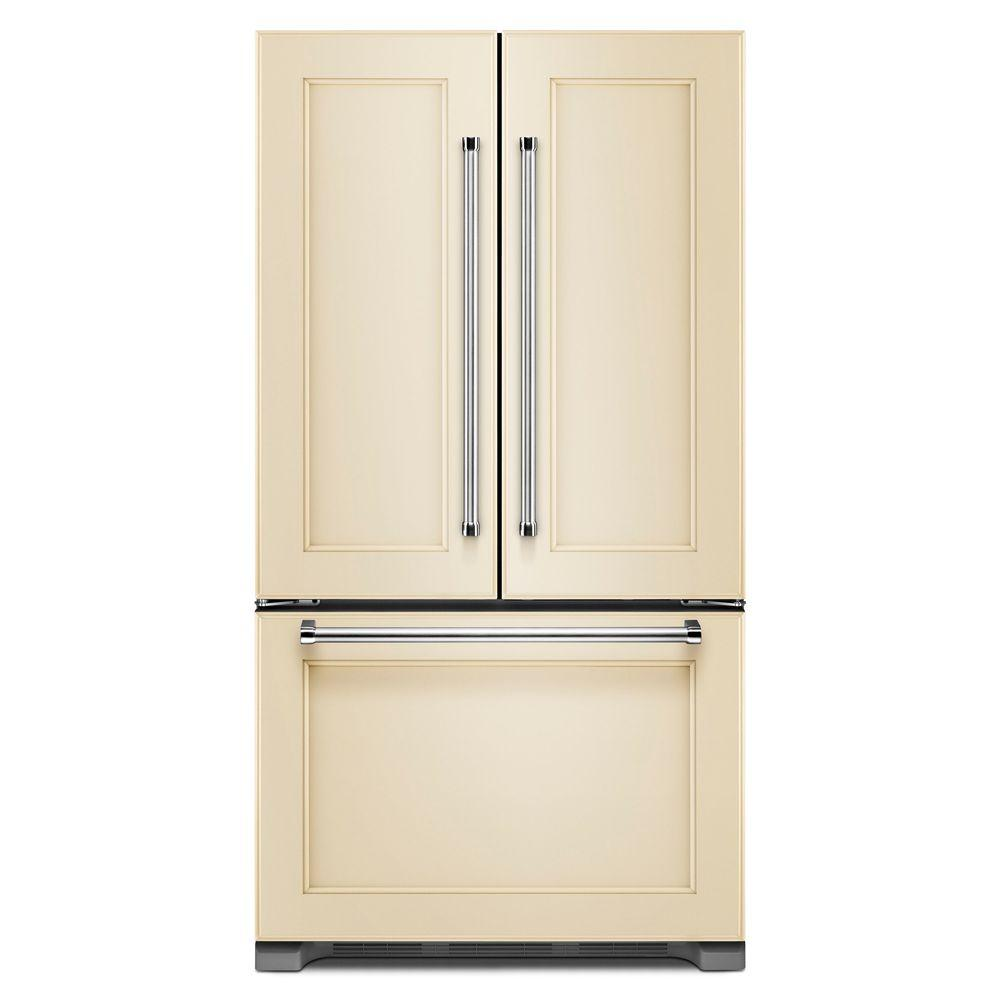 Kitchenaid Refrigerator White Kitchenaid 36 Inw 21.9 Cuftfrench Door Refrigerator In Panel