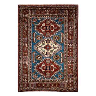 Shirvan Blue 4 ft. x 6 ft. Indoor Area Rug