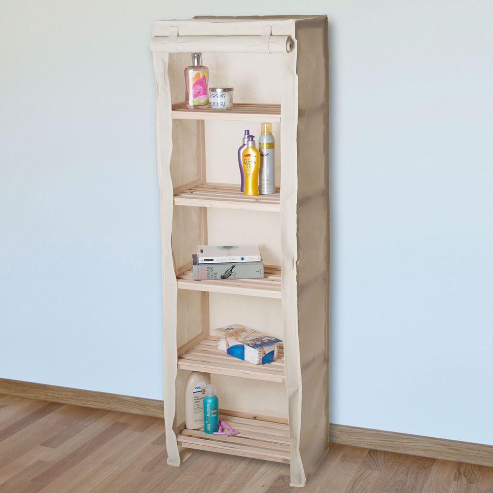 5 Tier Wood Storage Shelving Rack