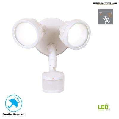 White Outdoor Motion Activated LED Security Light
