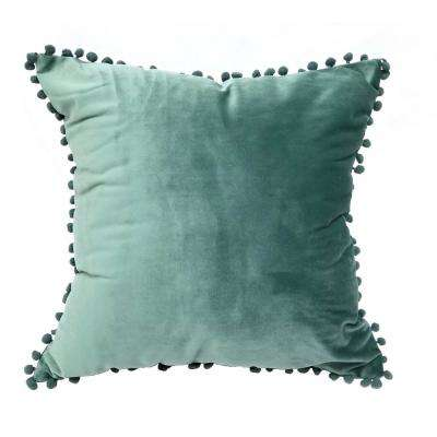 Pompom Dust Teal Standard Decorative Pillow