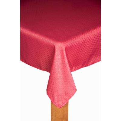 Chelton 60 in. x 84 in. Merlot 100% Polyester Tablecloth