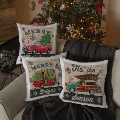 Christmas Plaid Oyster Car Decorative Pillow