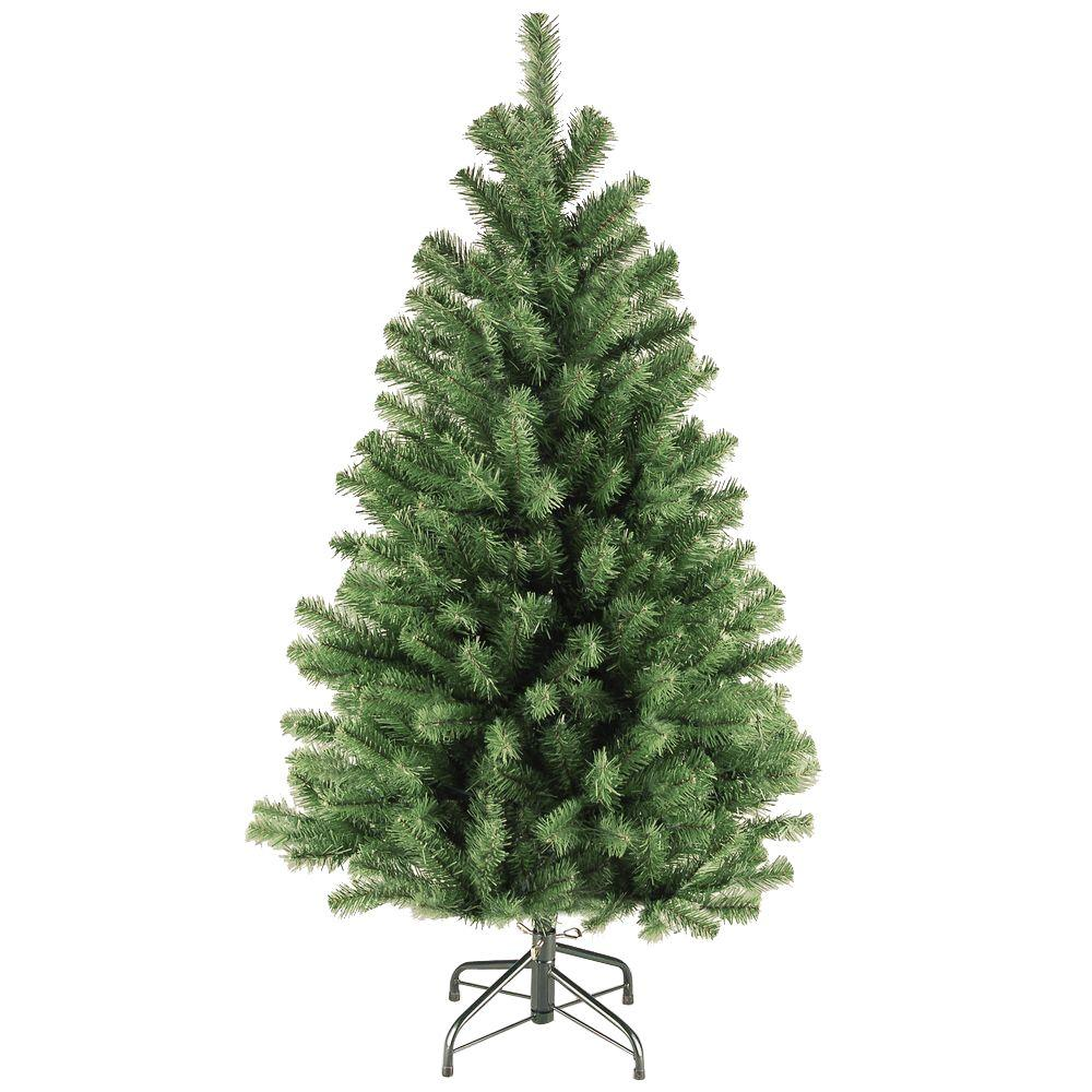 Home Accents Holiday 4.5 ft. Unlit North Valley Spruce Artificial Christmas Tree