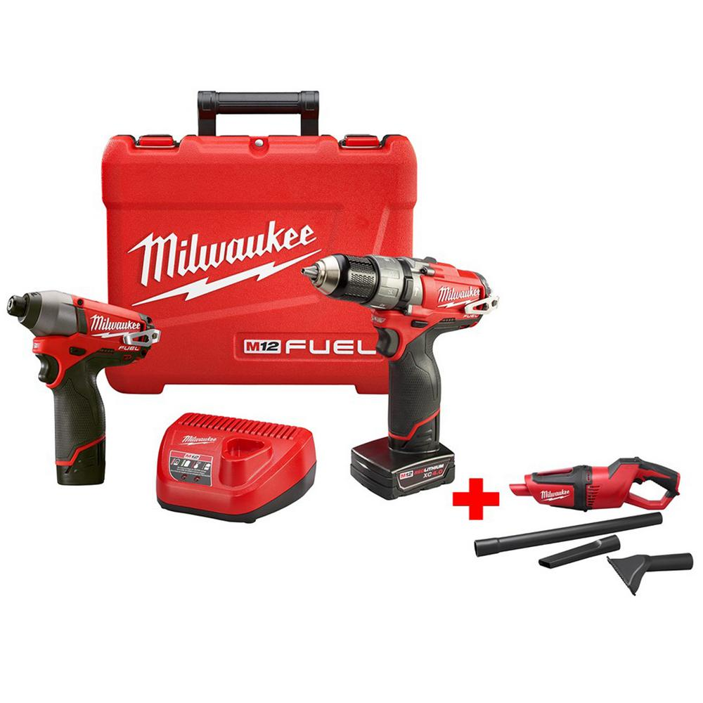 M12 12-Volt FUEL Lithium-Ion Brushless 1/2 in. Hammer Drill/Impact Combo Kit