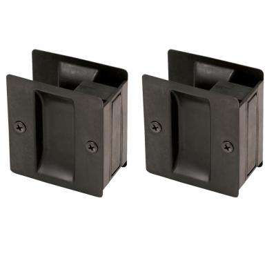 Oil Rubbed Bronze Pocket Door Passage Hardware (2 per Pack)