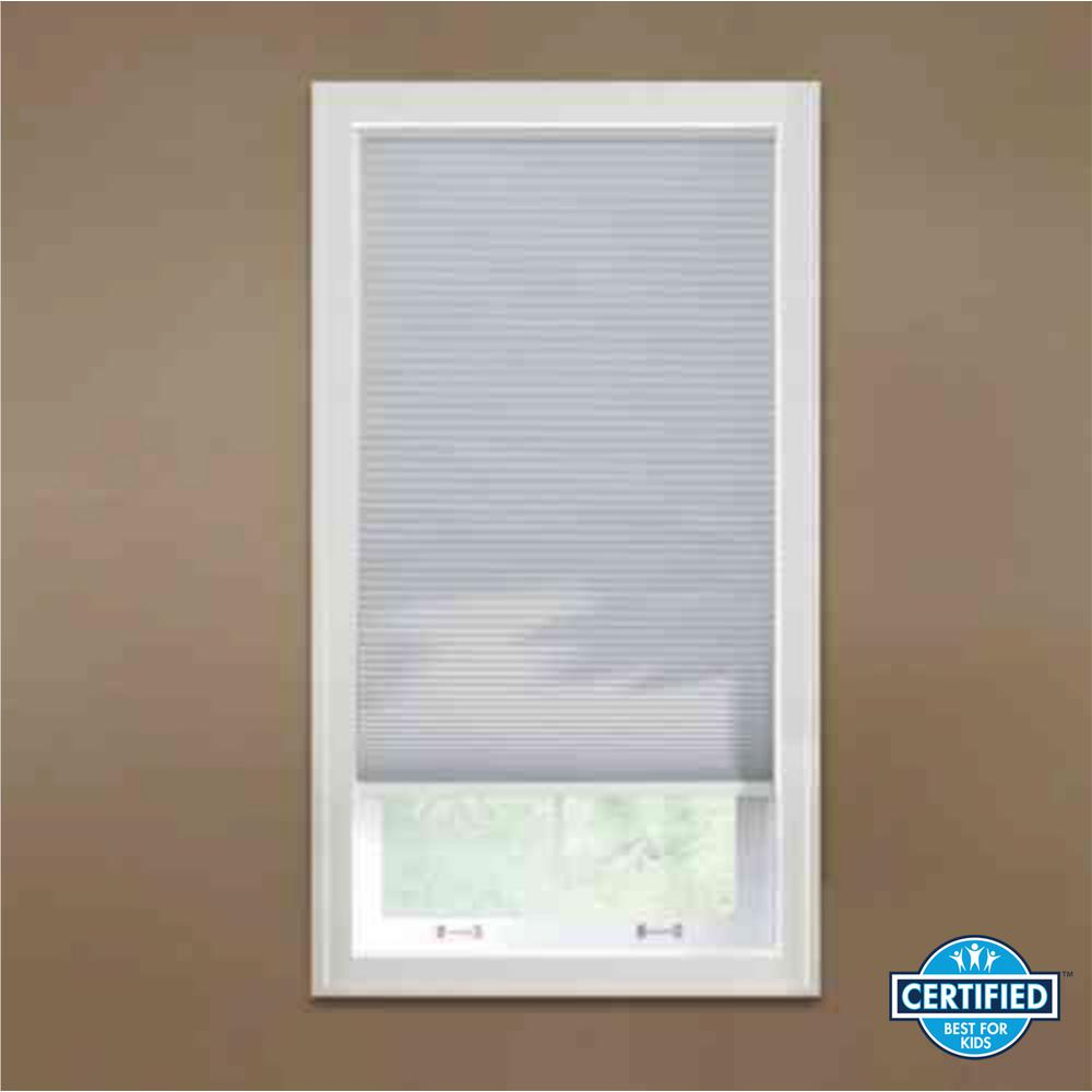 Home Decorators Collection Shadow White 9 16 In Blackout Cordless Cellular Shade 35 W X 48 L Actual Size 34 625