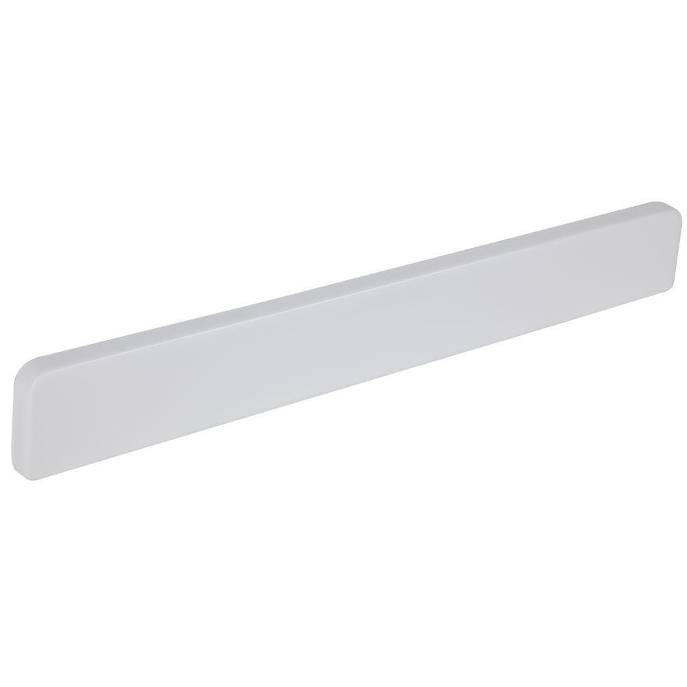 15-1/2 in. Cultured Marble Lite Sidesplash in White