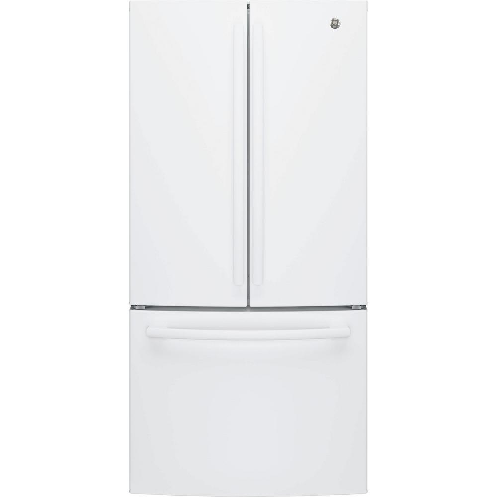 Ge 33 in 18 6 cu ft french door refrigerator in white for 19 6 cu ft french door refrigerator