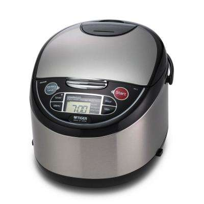 10-Cup Micom Stainless Steel Rice Cooker and Food Steamer