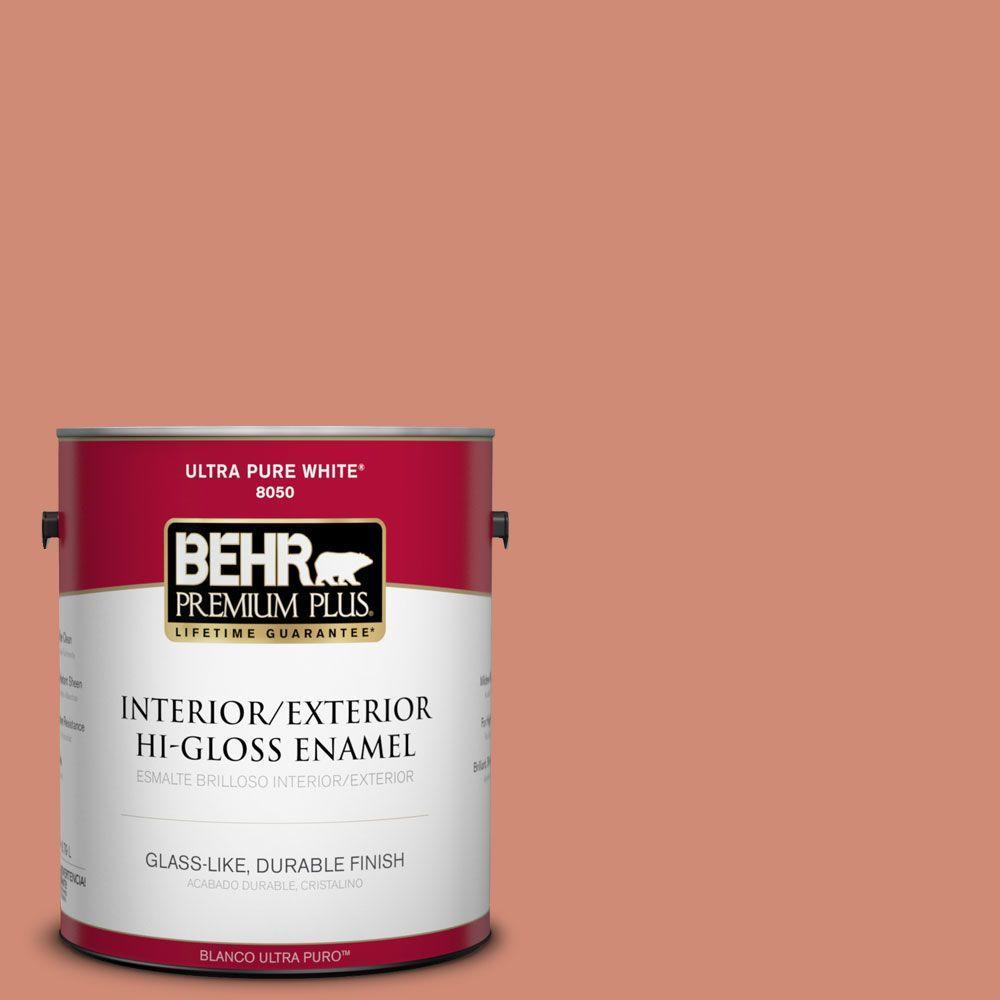 BEHR Premium Plus 1-gal. #M190-5 Fireplace Glow Hi-Gloss Enamel Interior/Exterior Paint