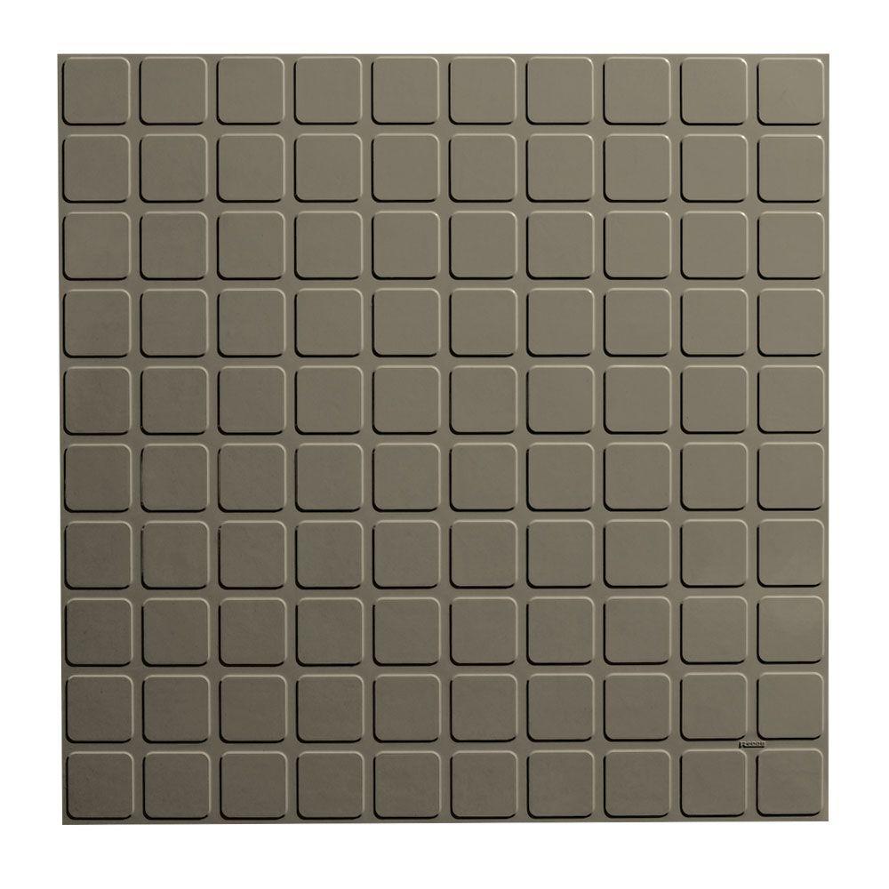 Square Profile 19.69 in. x 19.69 in. Lunar Dust Rubber Tile