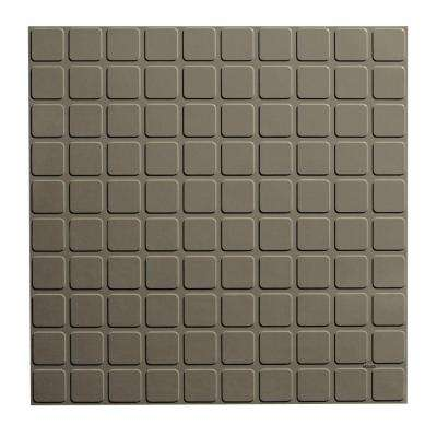 Square Profile 19.69 in. x 19.69 in. Lunar Dust Rubber Tile