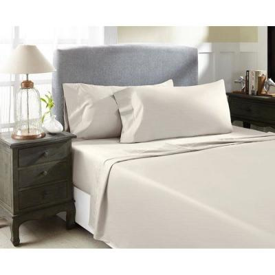4-Piece Ash Solid 1000 Thread Count Cotton King Sheet Set