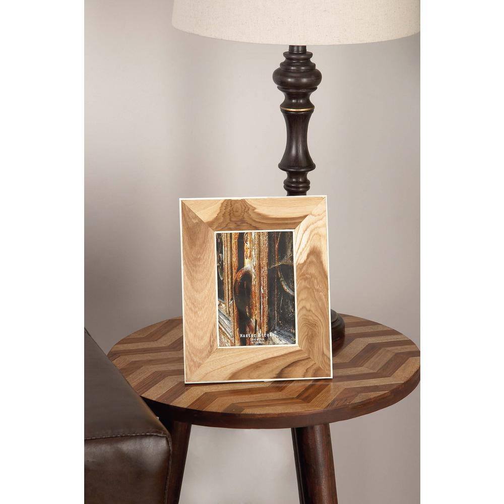 1-Opening 8 in. x 10 in. Brown Wooden Picture Frame