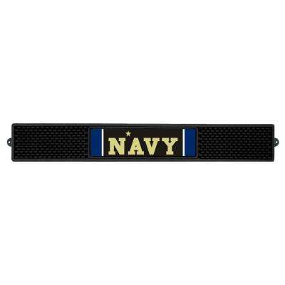 3.25 in. x 24 in. Black U.S. Naval Academy Drink Mat