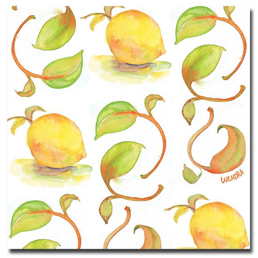 14 in. x 14 in. Lemons Canvas Art