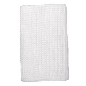 Organic White Cotton Twin Knitted Blanket