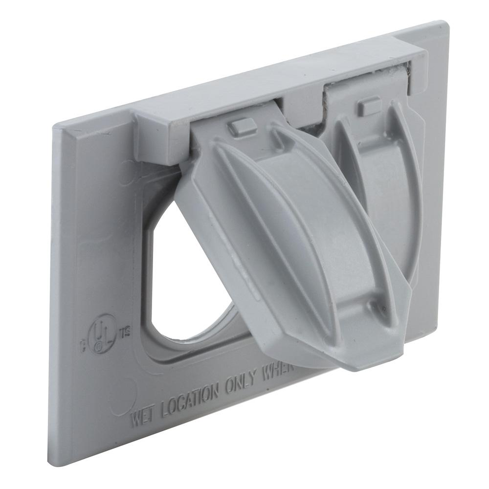 Weatherproof Box Cover The Home Depot 1 Gang Electrical Fuse Horizontal Mount Flip Lid Device