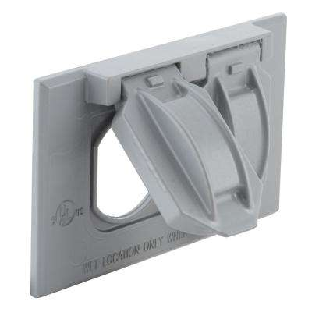 1-Gang Weatherproof Horizontal Mount Flip Lid Device Cover