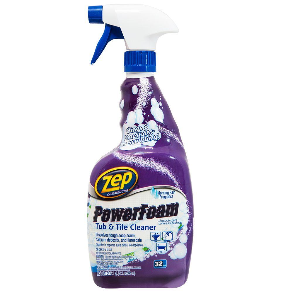 Zep 32 oz power foam tub and tile cleaner case of 12 for Bathroom tile cleaner products