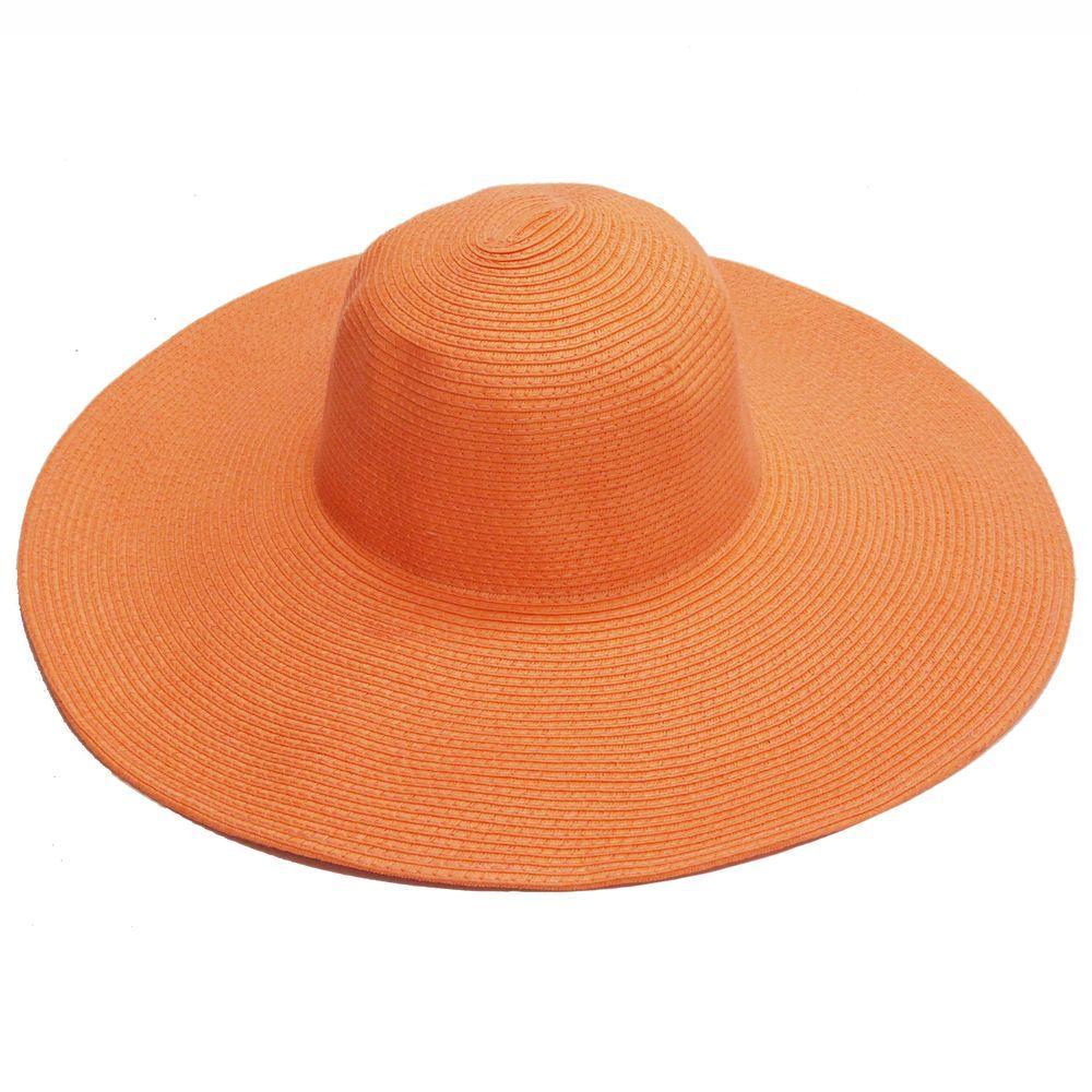 26bcfa72 Easy Gardener Wide Brim Tangerine Orange Ladies Hat Sun Protective ...