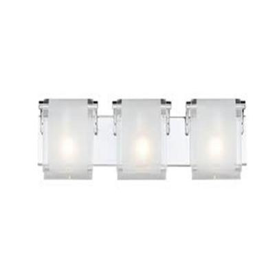Lawrence 3-Light Chrome Incandescent Bath Vanity Light