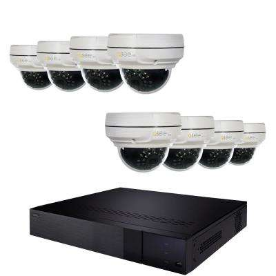 16-Channel 4MP 2TB NVR Video Surveillance System with 8-Fixed 4MP Dome Cameras