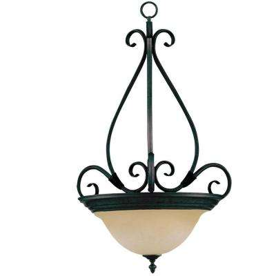 Pacific 3-Light Kentucky Bronze Pendant