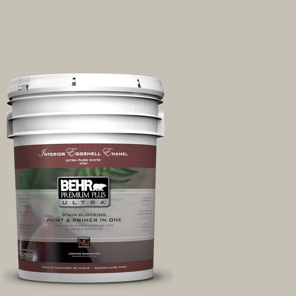 BEHR Premium Plus Ultra 5-gal. #BNC-04 Comforting Gray Eggshell Enamel Interior Paint