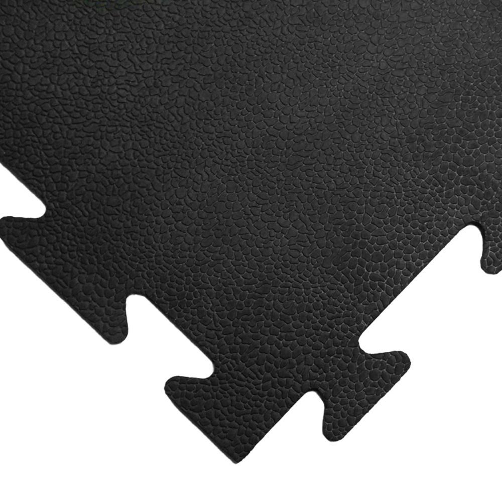 Armor-Lock (Fitness) 3/8 in. x 20 in. x 20 in. Black Interlocking Rubber Tiles (16-Pack, 44 sq. ft.)