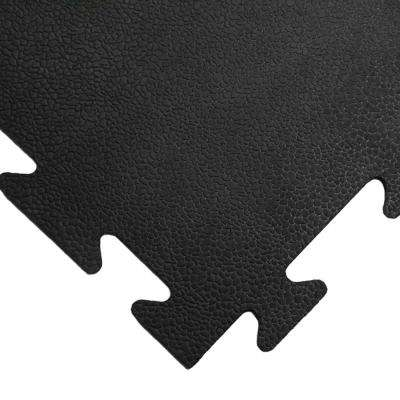 Armor-Lock (Fitness) 3/8 in. x 20 in. x 20 in. Black Interlocking Rubber Tiles (6-Pack, 16.5 sq. ft.)