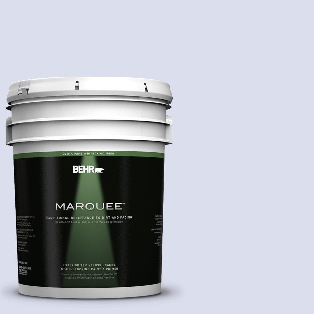 BEHR MARQUEE 5-gal. #620C-1 Winter Ice Semi-Gloss Enamel Exterior Paint