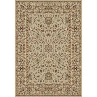 Jewel Collection Voysey Ivory Tonel Rectangle Indoor 9 ft. 3 in. x 12 ft. 6 in. Area Rug