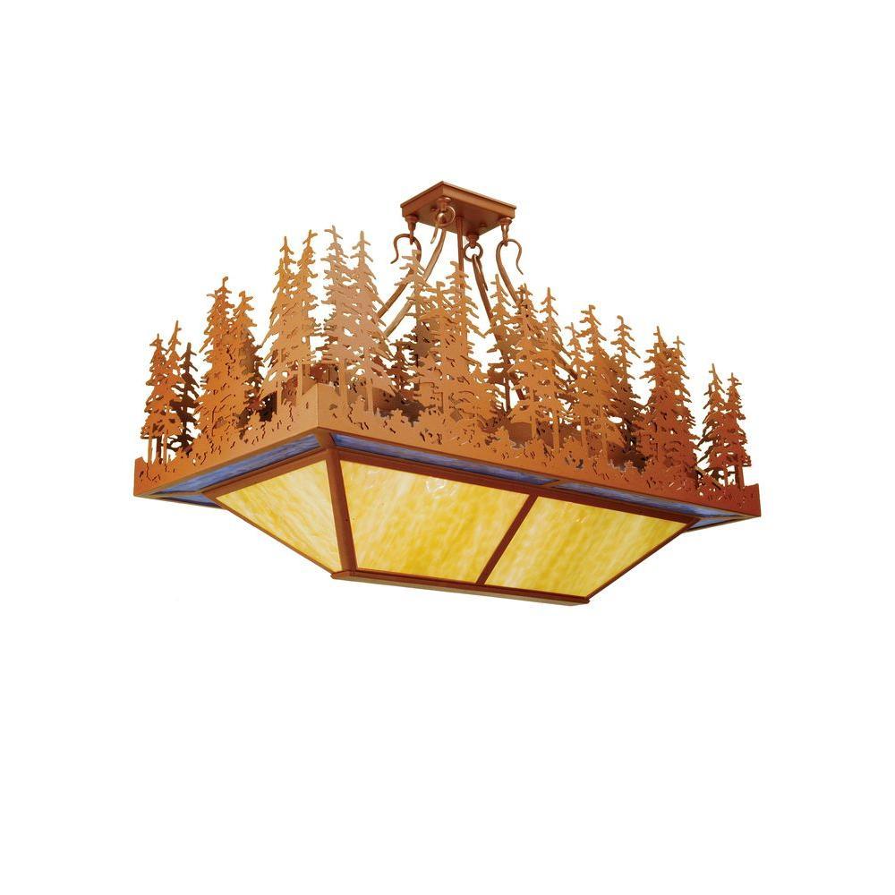 Illumine 4 Light Pine Lake Oblong Inverted Pendant