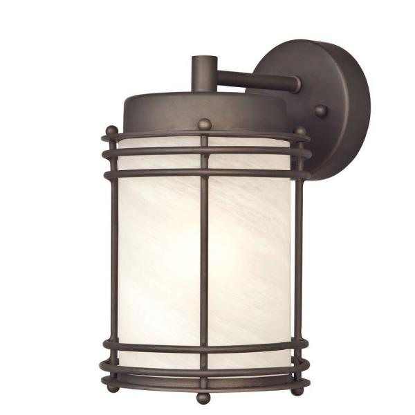 Westinghouse Parksville Wall Mount 1 Light Outdoor Oil Rubbed Bronze Wall Lantern Sconce 6230700 The Home Depot
