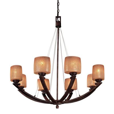 Raiden 8-Light Iron Oxide Chandelier