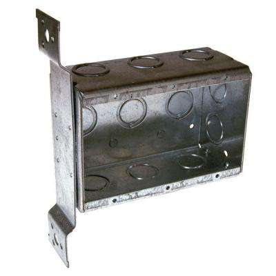 Three-Gang Welded Switch Box, 2-1/2 in. Deep with FM Bracket and 1/2 and 3/4 in. Concentric KO's (10-Pack)