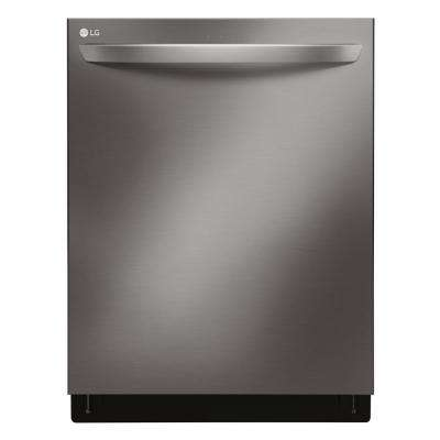 Top Control Tall Tub Smart Dishwasher with 3rd Rack and WiFi Enabled in Black Stainless Steel with Stainless Steel Tub