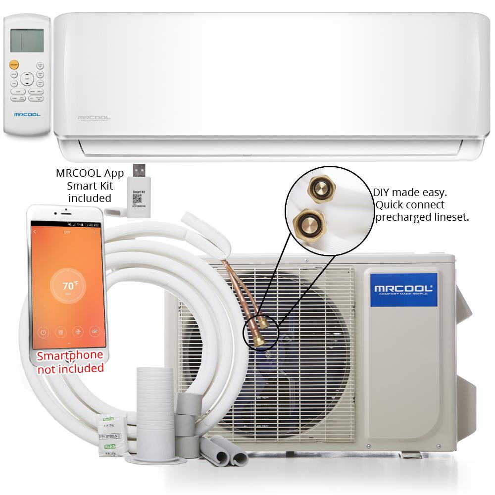 DIY 18,000 BTU 1.5 Ton Ductless Mini-Split Air Conditioner and Heat Pump 230-Volt/60 Hz