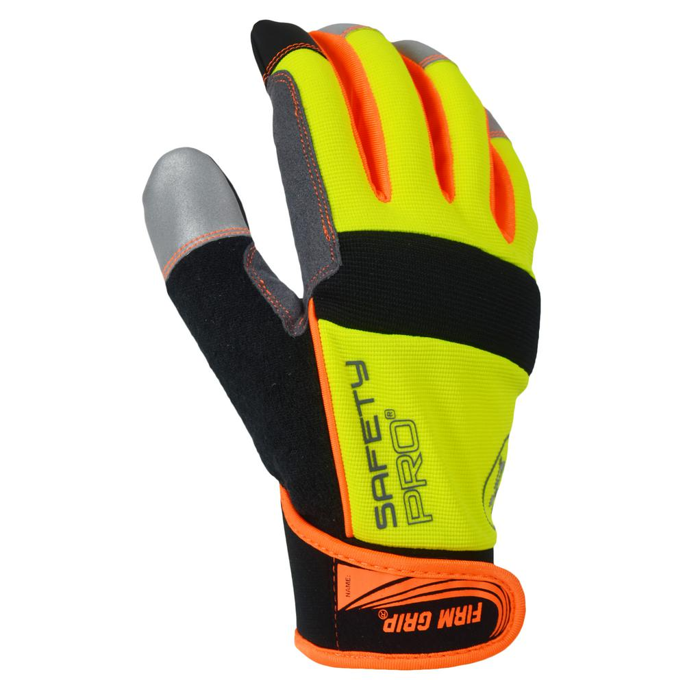 Winter Safety Pro Large High Visibility Synthetic Leather Glove