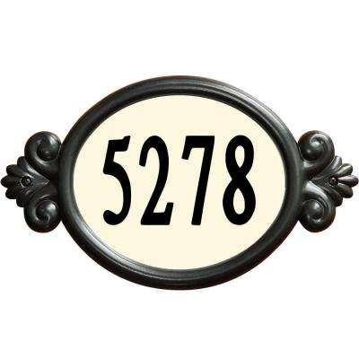 Classic Oval Black Do-It-Yourself Address Plaque Kit