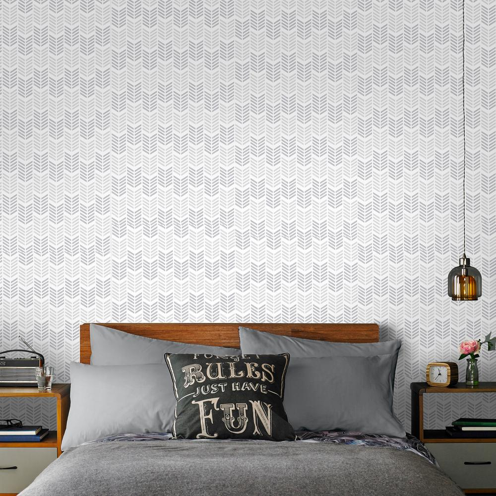 Graham and brown symmetry oiti silver removable wallpaper for Metallic removable wallpaper