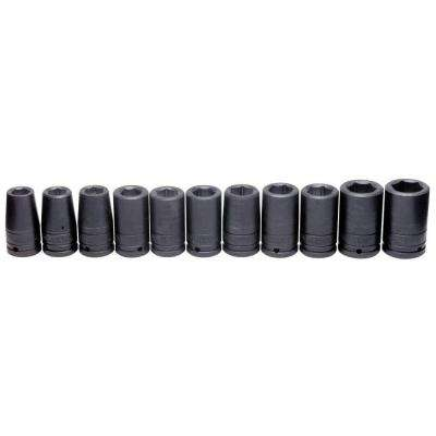 3/4 in. Drive Deep Metric 6-Point Impact Socket Set (11-Piece)